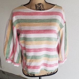 NEW LIST! Anthropologie/Current Air stripe top